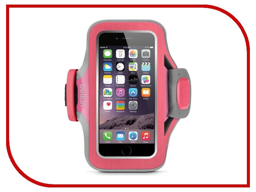 Аксессуар Чехол для APPLE iPhone 6 Belkin Slim-Fit Plus Armband F8W499BTC01 Pink stylish protective pvc neoprene armband for lg nexus 5 black pink