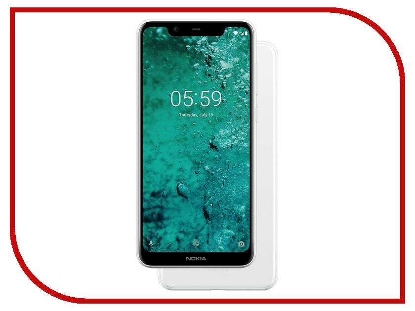 Сотовый телефон Nokia 5.1 Plus White сотовый телефон nokia 7 plus black copper