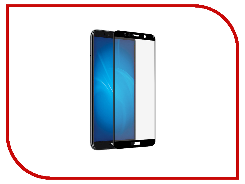 Аксессуар Защитный экран для Huawei Y5 Lite 2018 Red Line Full screen 3D Tempered Glass Full Glue Black УТ000016675 for lenovo zuk z2 lcd screen display with touch screen digitizer panel glass assembly black white replacement parts free shipping