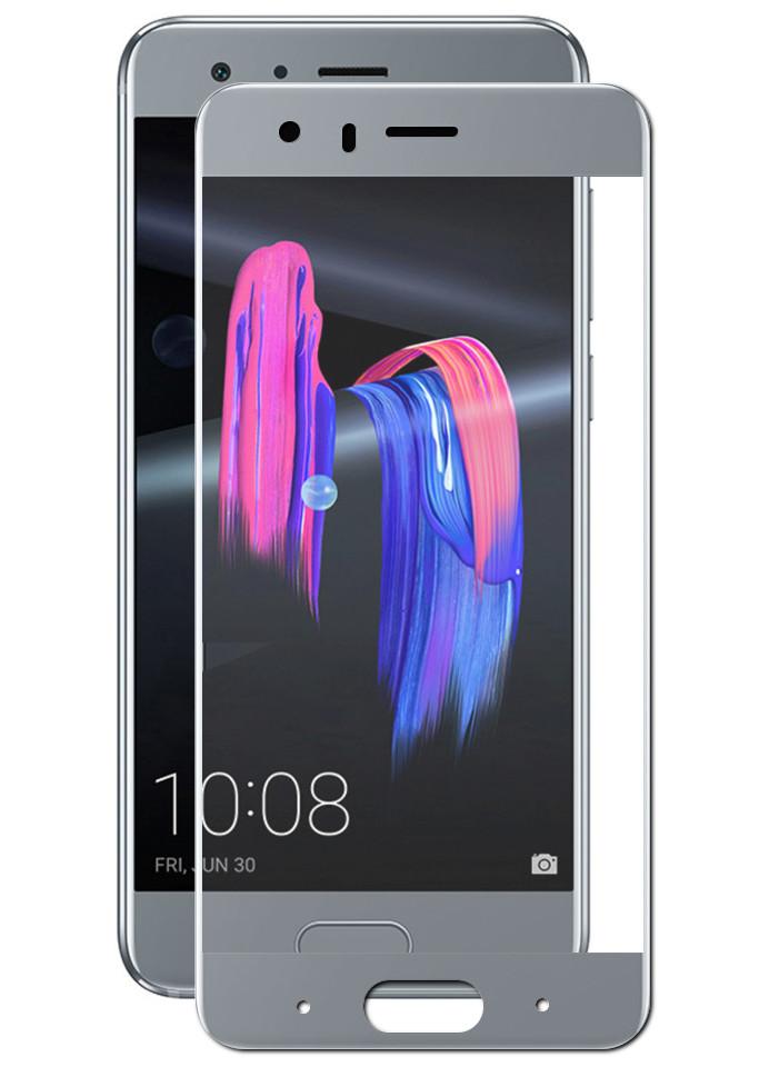 Закаленное стекло DF для Honor 9 Full Screen + Glue hwColor-28 Grey Frame