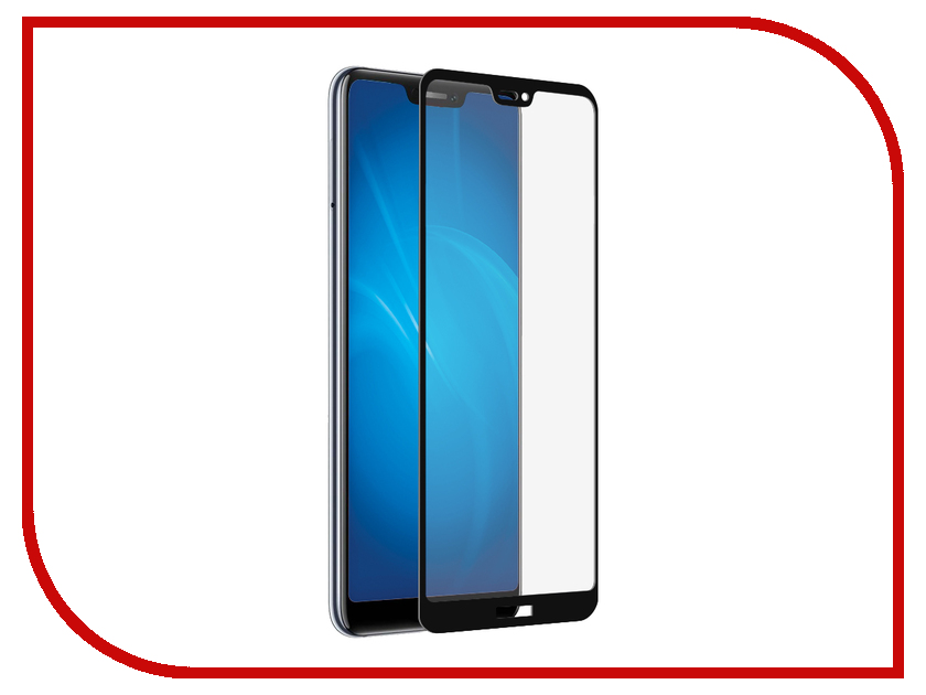 Аксессуар Закаленное стекло для Huawei Honor 8C DF Full Screen + Full Glue hwColor-77 Black Frame аксессуар защитно стекло для huawei honor 8 x luxcase 2 5d full screen full glue black frame 77998
