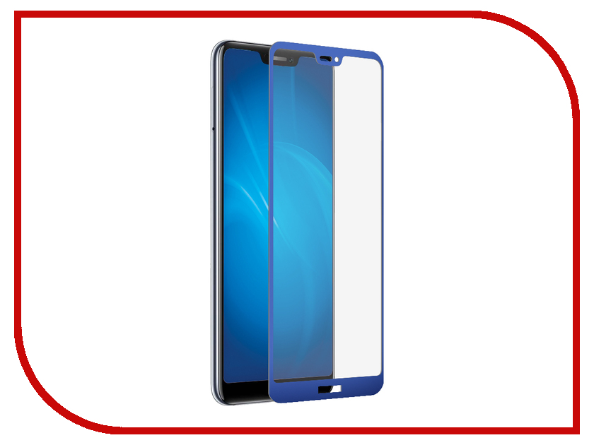 Аксессуар Закаленное стекло для Huawei Honor 8C DF Full Screen + Full Glue hwColor-77 Blue Frame reedoon f207 radiation blue ray protection tr90 frame resin lens gaming glasses black blue