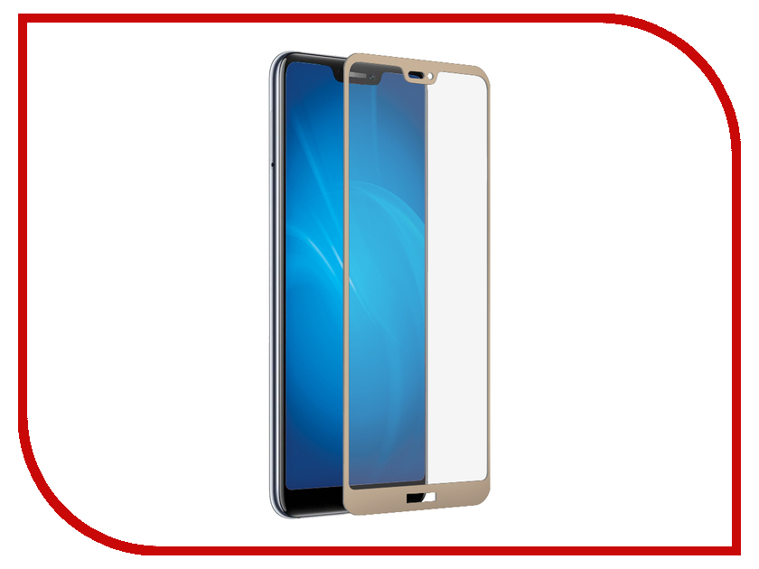 Аксессуар Закаленное стекло для Huawei Honor 8C DF Full Screen + Full Glue hwColor-77 Gold Frame lcd screen display touch digitizer with frame for huawei honor 7i not for honor 7 blue or white or gold free shipping