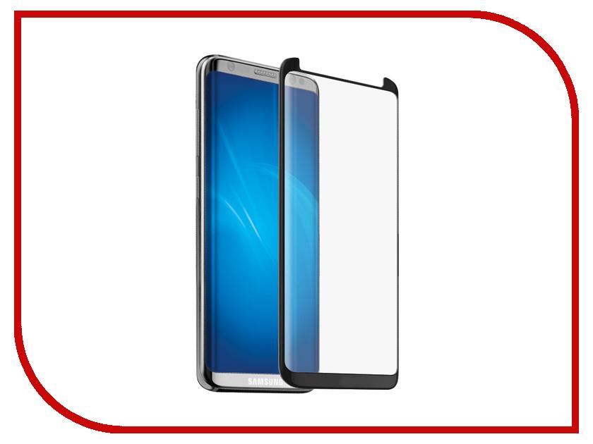 Аксессуар Закаленное стекло для Samsung Galaxy S8 Plus DF Full Screen + Full Glue 3D sColor-28 Black Frame аксессуар закаленное стекло для samsung galaxy j3 2017 df full screen scolor 20 gold
