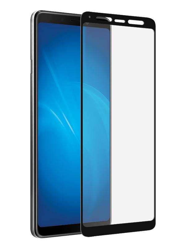 Аксессуар Закаленное стекло DF для Samsung Galaxy A9 2018 Full Screen + Full Glues sColor-61 Black Frame стоимость