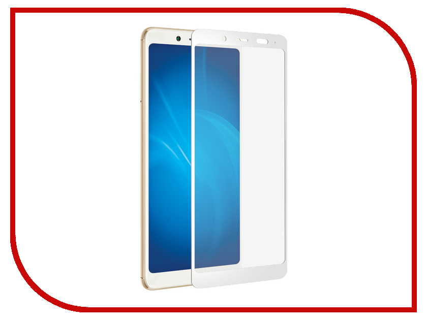 Аксессуар Закаленное стекло для Xiaomi Redmi Note 5 / Note 5 Ai DF Full Screen + Full Glue xiColor-31 White Frame original lcd screen display touch panel digitizer with frame for 5 5 meizu mx5 mx 5 white or black free shipping