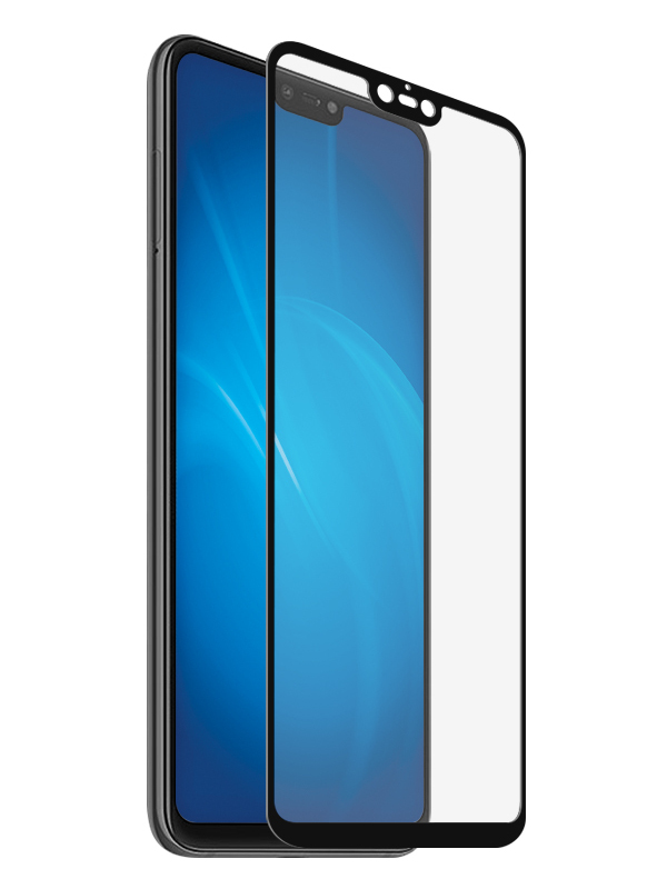 Аксессуар Закаленное стекло DF для Xiaomi Mi 8 Lite Full Screen + Full Glue xiColor-44 Black Frame аксессуар защитное стекло для xiaomi mi мaх 3 df fullscreen xicolor 40 white frame