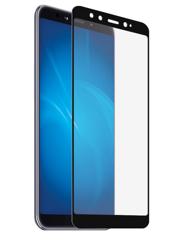 Аксессуар Закаленное стекло DF для Xiaomi Mi A2 Mi 6X Full Screen + Full Glue xiColor-45 Black Frame аксессуар противоударное стекло для xiaomi mi 7 innovation 2d full glue cover white 12756