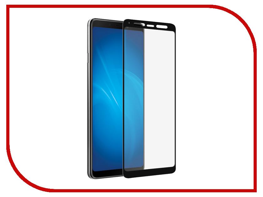 Аксессуар Закаленное стекло для Samsung Galaxy A9 2018 DF Full Screen sColor-60 Black Frame аксессуар закаленное стекло samsung galaxy a7 2016 df scolor 04 white