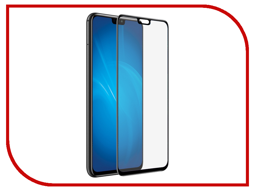 Аксессуар Закаленное стекло для Huawei Honor 8X / 8X Premium DF Full Screen 3D hwColor-79 Black Frame