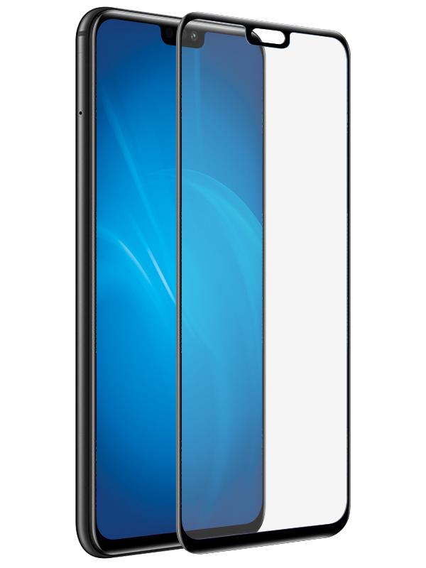 Закаленное стекло DF для Honor 8X / Premium Full Screen 3D hwColor-79 Black Frame