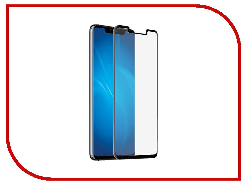 Аксессуар Закаленное стекло для Huawei Mate 20 Pro DF Full Screen 3D hwColor-80 Black Frame new for huawei ascend p7 lcd display touch screen digitizer assembly without frame black and white free shipping