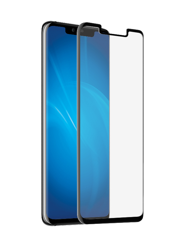 Закаленное стекло DF для Huawei Mate 20 Pro Full Screen 3D hwColor-80 Black Frame