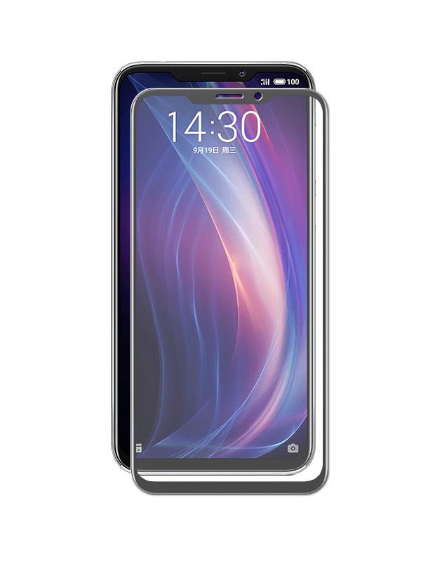 Закаленное стекло DF для Meizu X8 Full Screen mzColor-27 Black Frame