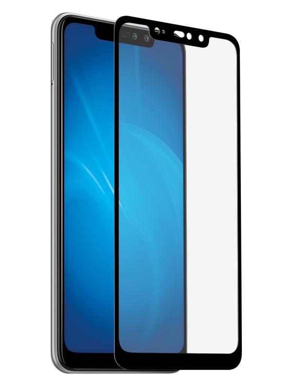 Закаленное стекло DF для Xiaomi Redmi Note 6 Pro Full Screen xiColor-46 Black Frame фото