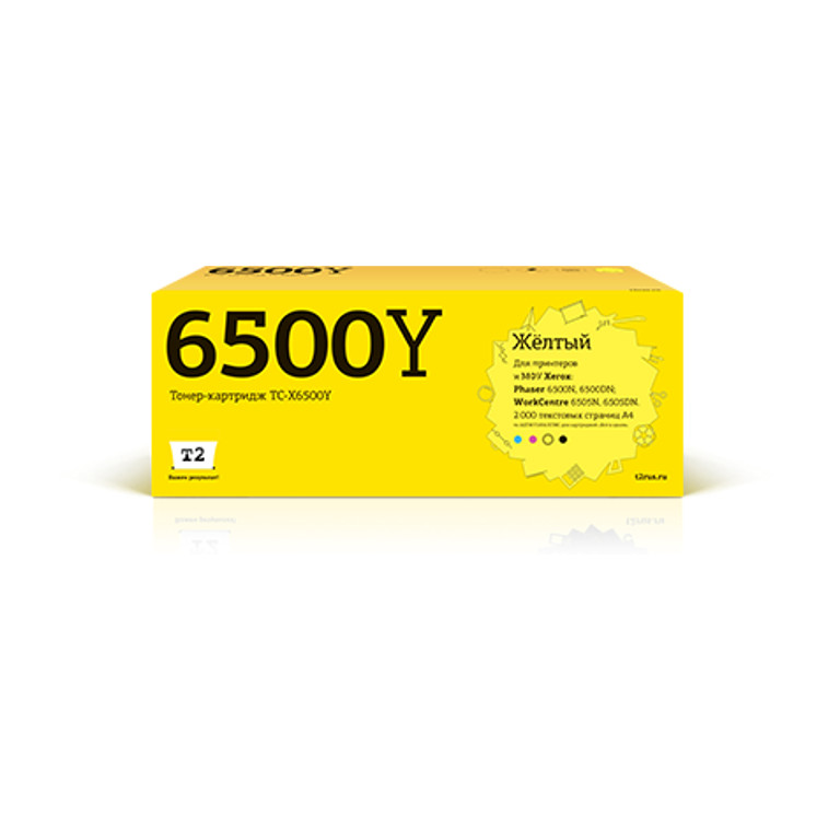 цена на Картридж T2 TC-X6500Y для Xerox Phaser 6500N/6500DN/WorkCentre 6505N/6505DN Yellow