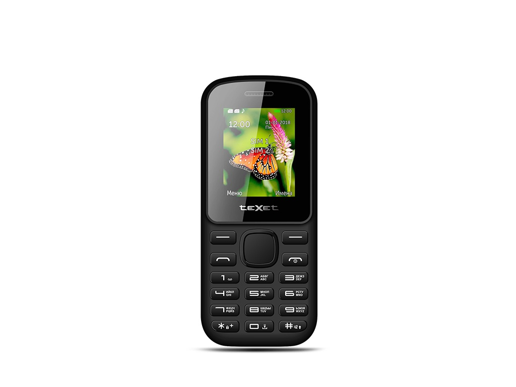 Сотовый телефон teXet TM-130 Black-Red texet tm d301 black silver