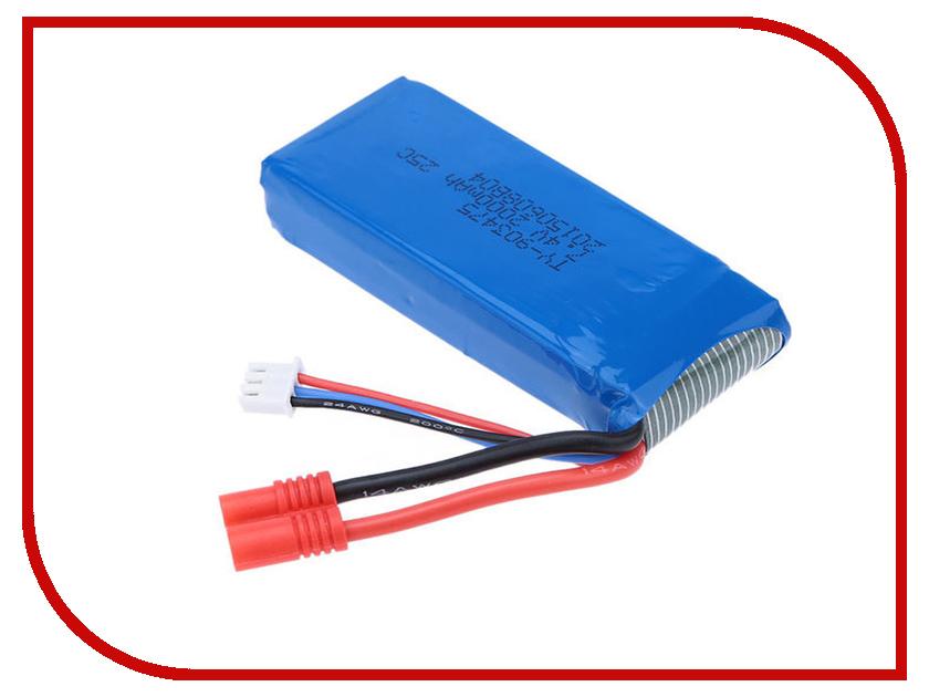 Аккумулятор Syma Li-Po 7.4V 2000mAh для X8HW-18 mos 3s rc lipo battery 11 1v 3000mah 30c li po batteries for rc airplane drone car rechargeable batteria free shipping
