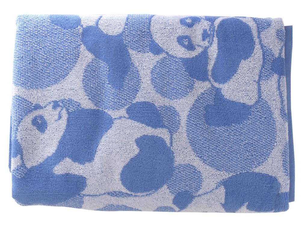 Полотенце Aquarelle Панды вид 2 70x140cm White-Blue 712841