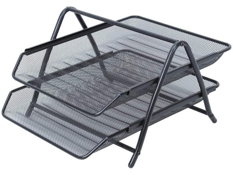 Лоток горизонтальный Berlingo Steel & Style Black BMs_41022