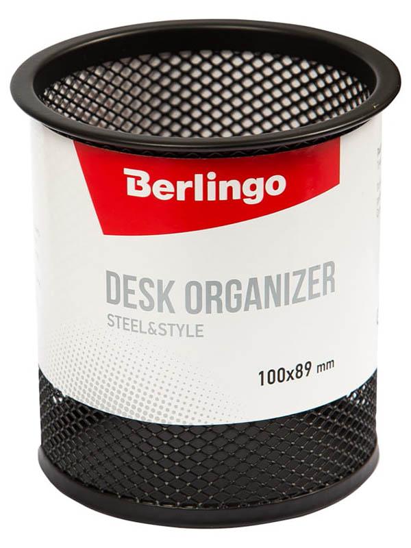 Подставка-стакан Berlingo Steel & Style Black BMs_41102