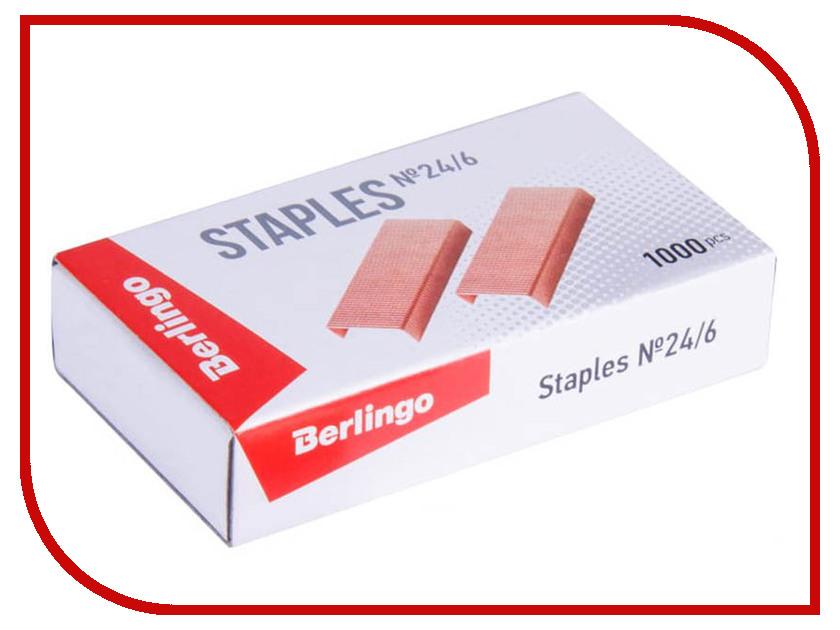 Купить Скобы для степлера Berlingo №24/6 1000шт Copper SH610