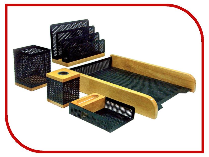 Настольный набор Delucci Natural Wood-Black Metal MBn_05221 delucci mbn 16210 black