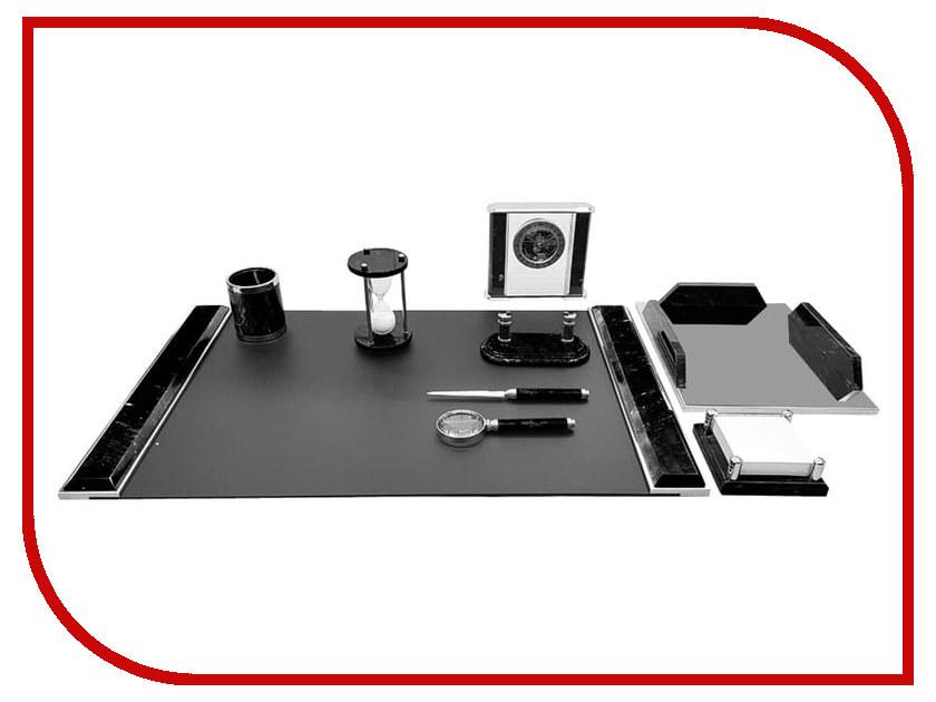 Настольный набор Delucci Black Marble-Silver MBm_00901 delucci mbn 10201
