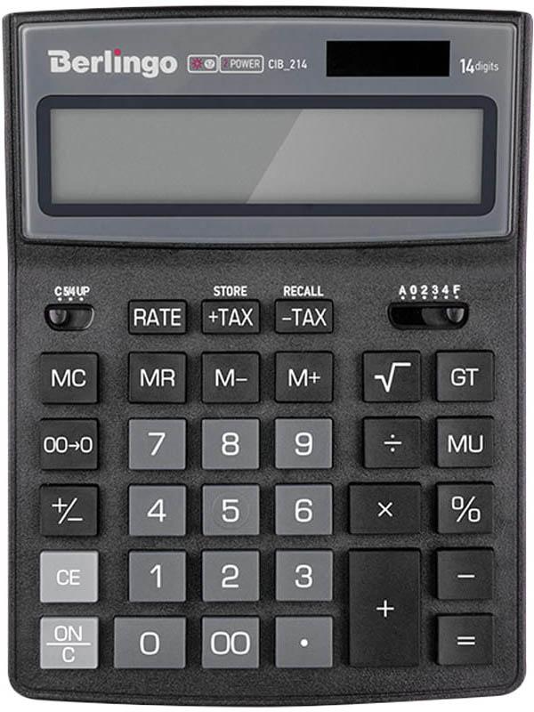 Калькулятор Berlingo City Style Black-Grey CIB_214 - двойное питание