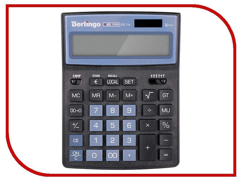 Калькулятор Berlingo City Style Black- Light Blue CIB_216 - двойное питание berlingo настольный калькулятор berlingo тёмно розовый