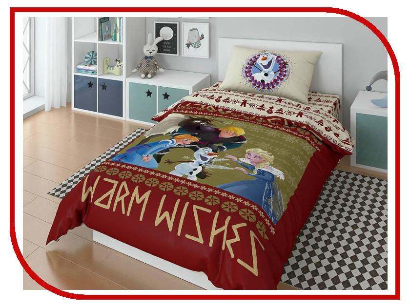 Постельное белье Disney Olaf Warm Wishies Комплект 1.5 спальный Поплин 723648 olaf at the crossroads