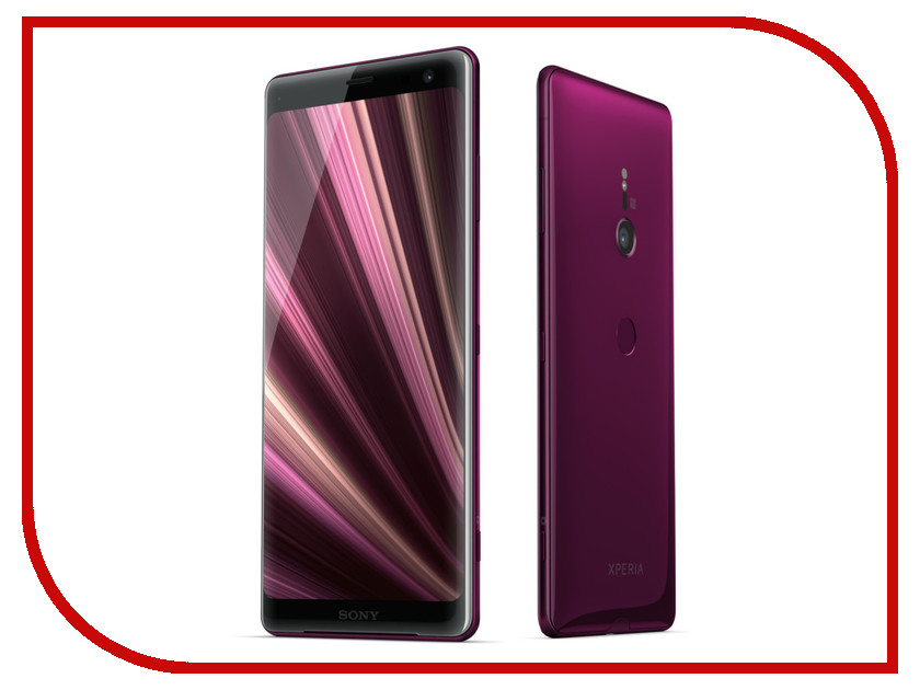 Сотовый телефон Sony Xperia XZ3 4/64GB Bordeaux Red [available from 10 11] tie in wooden box berthier berthier silk bordeaux 807 1 94 wine red