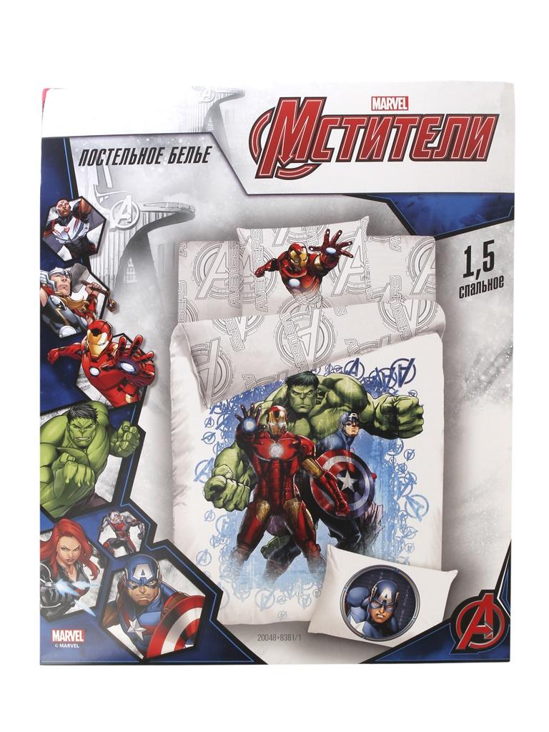 Постельное белье Marvel Halk, Iron Man, Captain America Комплект 1.5 спальный Поплин 724742