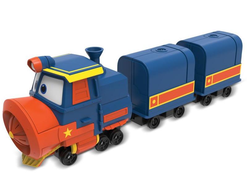Игрушка SilverLit Паровозик Виктор с двумя вагонами 80179