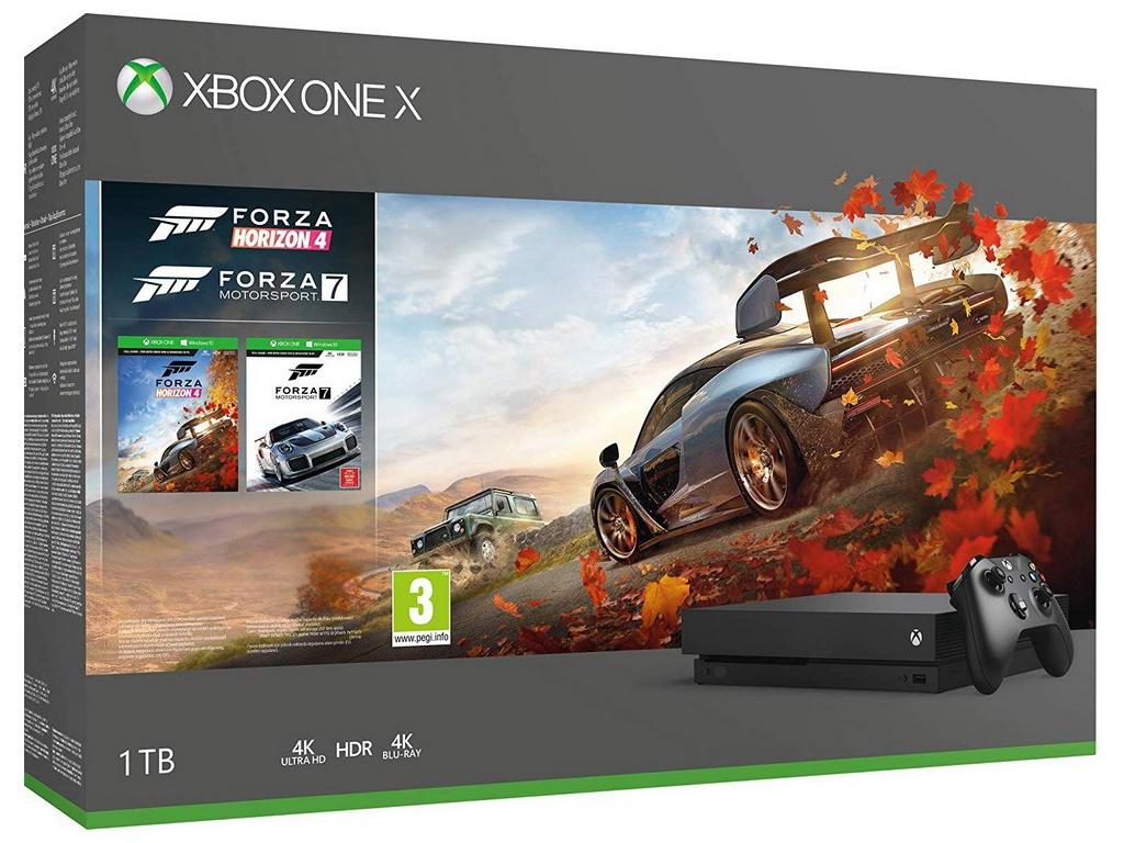 Игровая приставка Microsoft Xbox One X 1Tb Black CYV-00058 + Forza Horizon 4 Motorsport 7