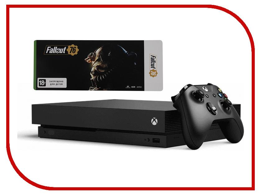 Игровая приставка Microsoft Xbox One X 1Tb Black + Fallout 76 футболка классическая printio игровая приставка денди
