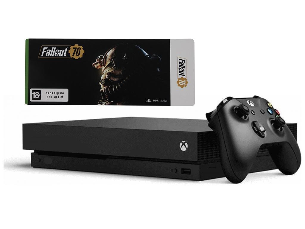 Игровая приставка Microsoft Xbox One X 1Tb Black + Fallout 76