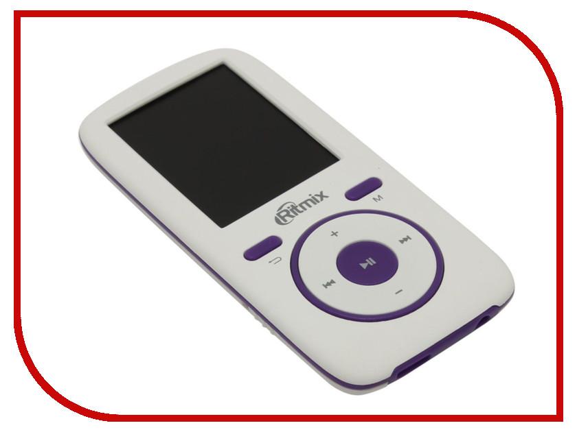 Плеер Ritmix RF-4450 4Gb White-Violet ritmix rf 3360 4gb violet mp3 плеер
