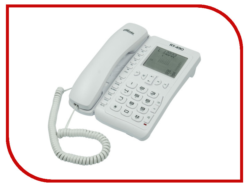 Телефон Ritmix RT-490 White телефон ritmix rt 003 черный
