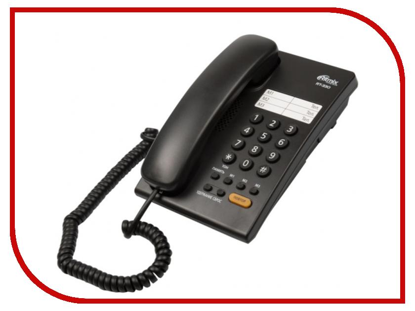 Телефон Ritmix RT-330 Black телефон ritmix rt 003 черный
