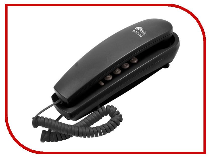 Телефон Ritmix RT-005 Black телефон ritmix rt 003 черный