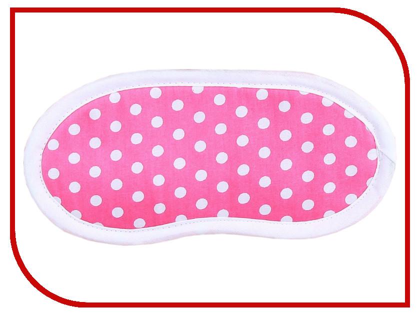 Маска для сна СИМА-ЛЕНД Горох на розовом 1933238 кухонный набор сима ленд шеф повар хрюша 3505364