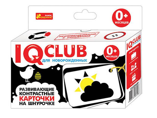 Пособие Ranok Creative IQ Club Карточки с контрастом на шнурочке Узоры 13152044Р цена