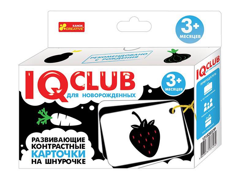 Пособие Ranok Creative IQ Club Развивающие контрастные карточки на шнурочке вид 1 13152037Р цена