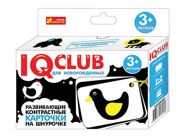 Пособие Ranok Creative IQ Club Развивающие контрастные карточки на шнурочке Животные 13152036Р цена