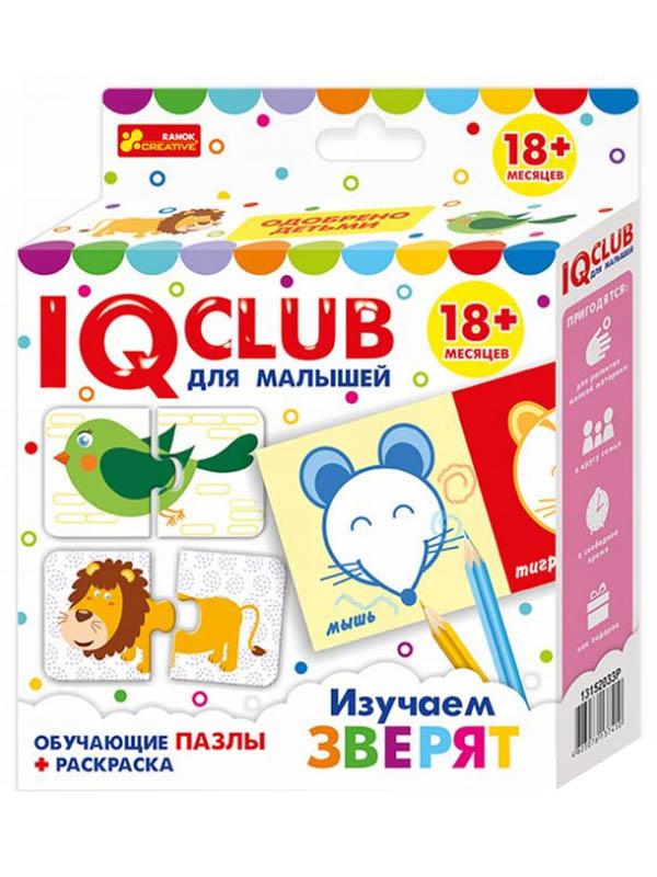 Пазл Ranok Creative IQ Club Изучаем зверят 13152033Р цена