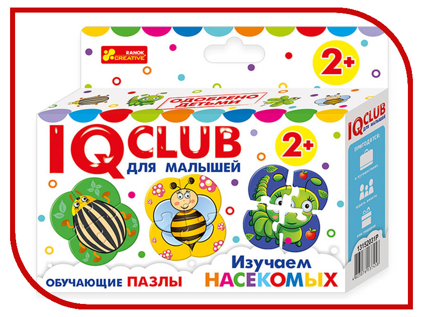 Пазл Ranok Creative IQ Club Изучаем насекомых 13152031Р настольная игра ranok creative мемо картины 7206