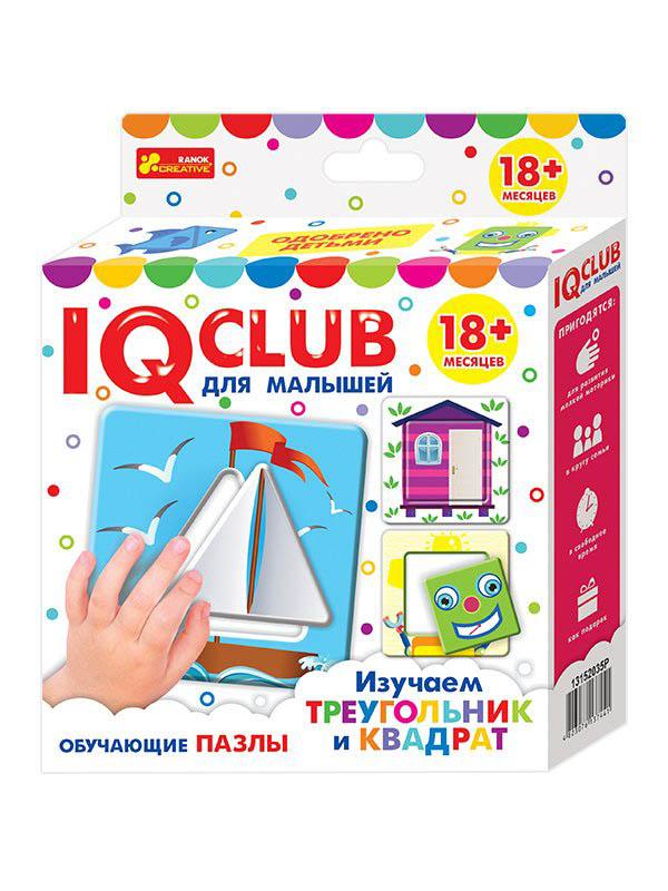 Пазл Ranok Creative IQ Club Изучаем треугольник и квадрат 13152035Р цена