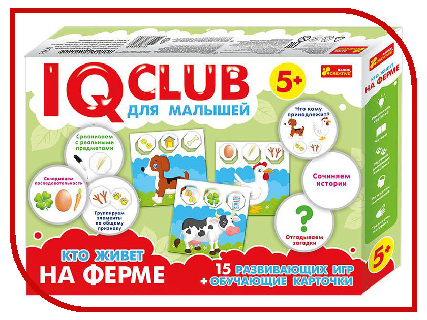 Пазл Ranok Creative IQ Club Кто живет на ферме 13152038Р игра ranok creative лаборатория экспертной службы 12114069р