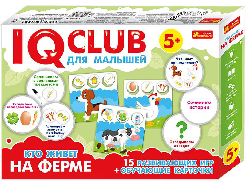 Пазл Ranok Creative IQ Club Кто живет на ферме 13152038Р